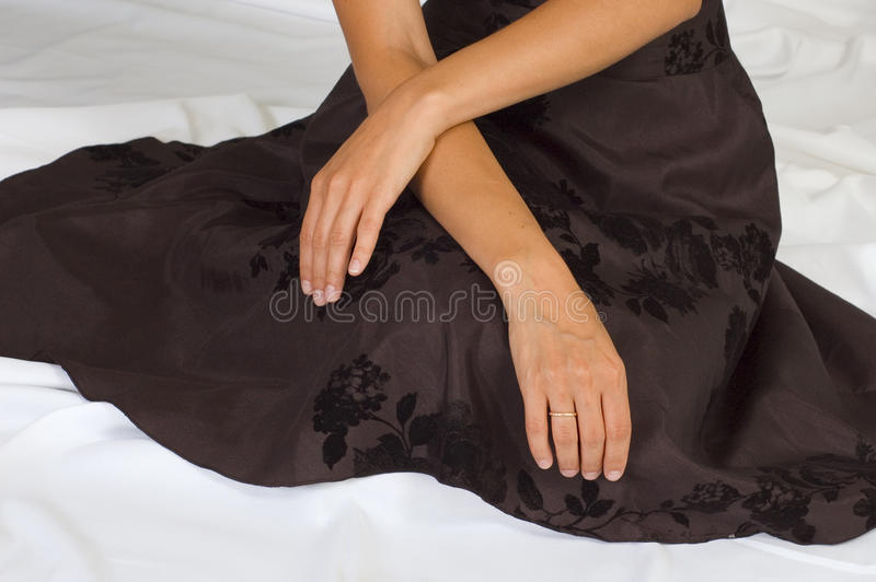 Close-up Of Female Hands Stock Photo