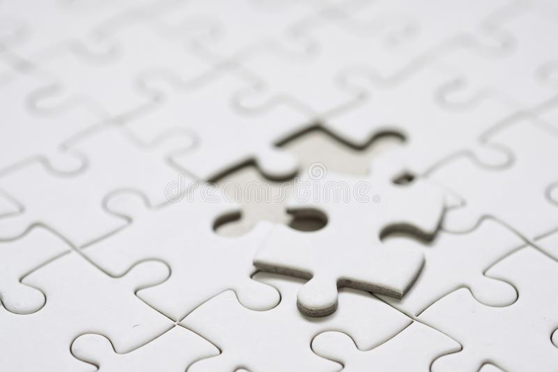 Close up a Final piece of jigsaw puzzle. royalty free stock images