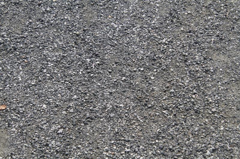 A close up of fine gravel stock photo