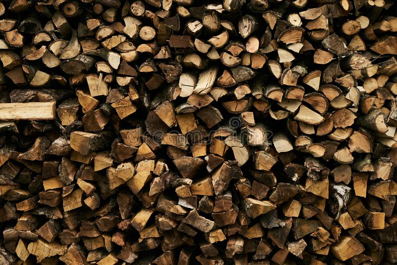 Close-up of a firewood pile royalty free stock image