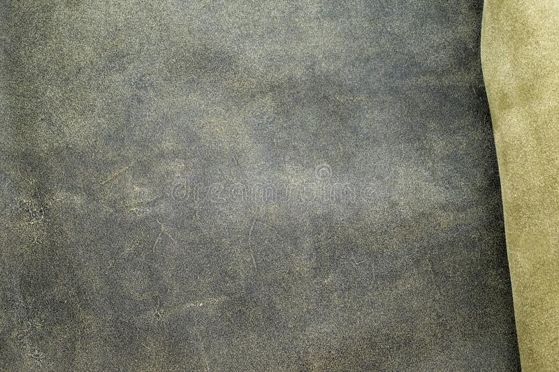 Close up fold grey leather texture background,fabrics Division.  royalty free stock photo
