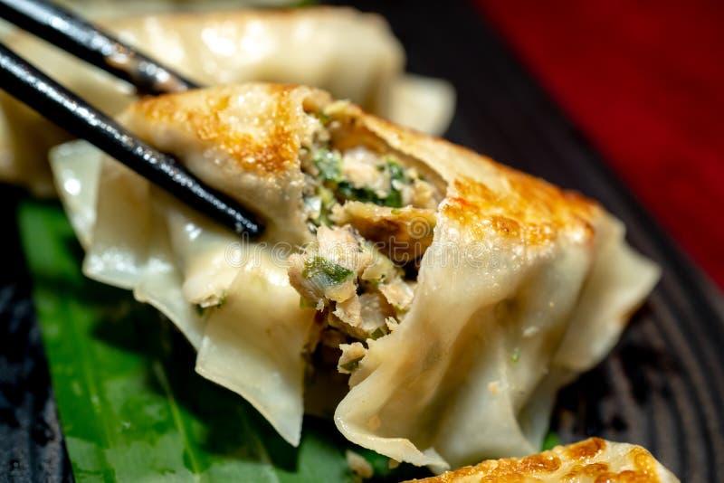 Close up fresh boiled dumplings royalty free stock images