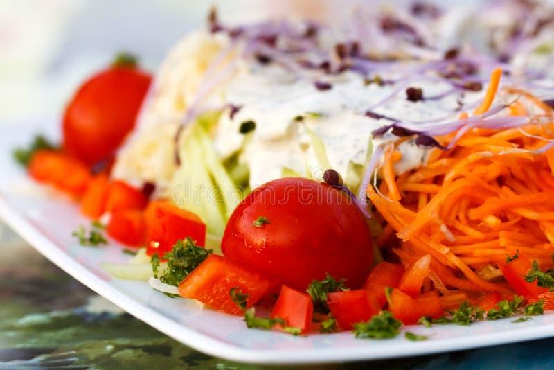 Close up , Fresh , mixed summer salad stock image