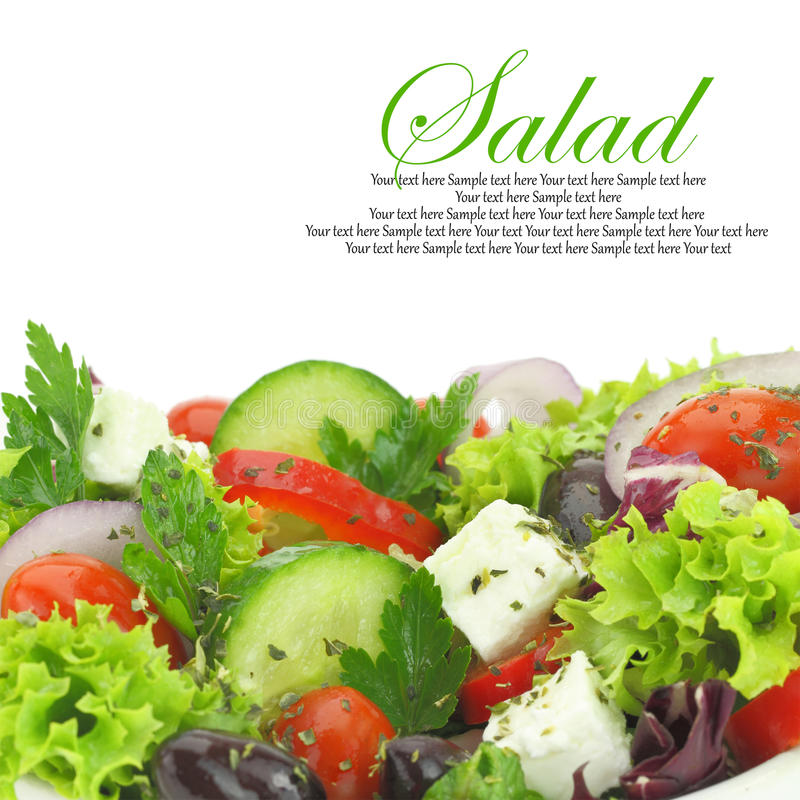Mixed vegetables salad stock photography