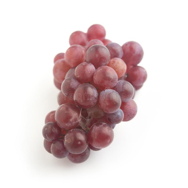 Fresh red grape isolated on white background. Close up fresh red and purple grape on white background royalty free stock photo