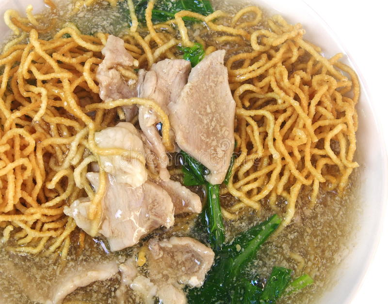 Close up fried noodle stock photography