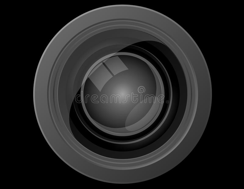 Close Up Front View Of A Camera Lens Stock Photos