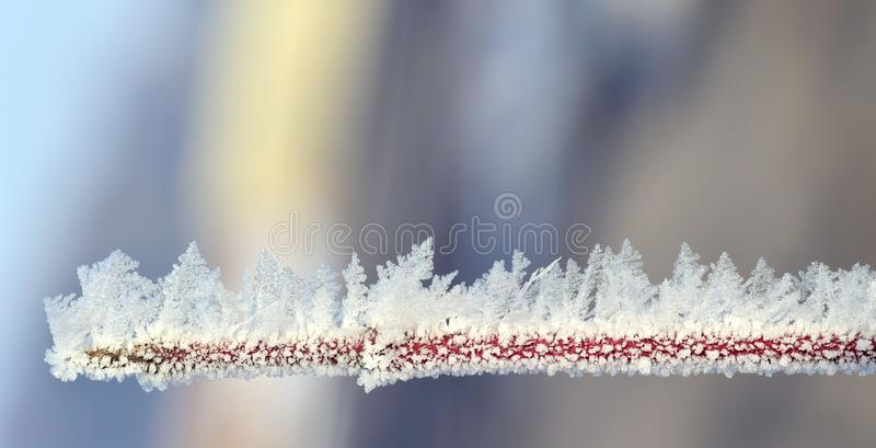 Close-up of Frozen Lake Against Sky during Winter stock image