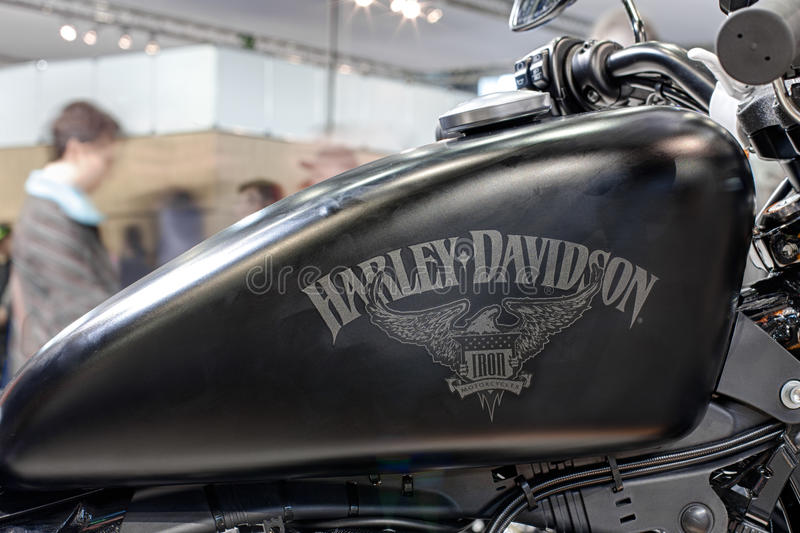 Iron 883 Review >> Close Up Fuel Tank Of Motorcycle Sportster Iron 883 Editorial Image - Image of sign, unique ...