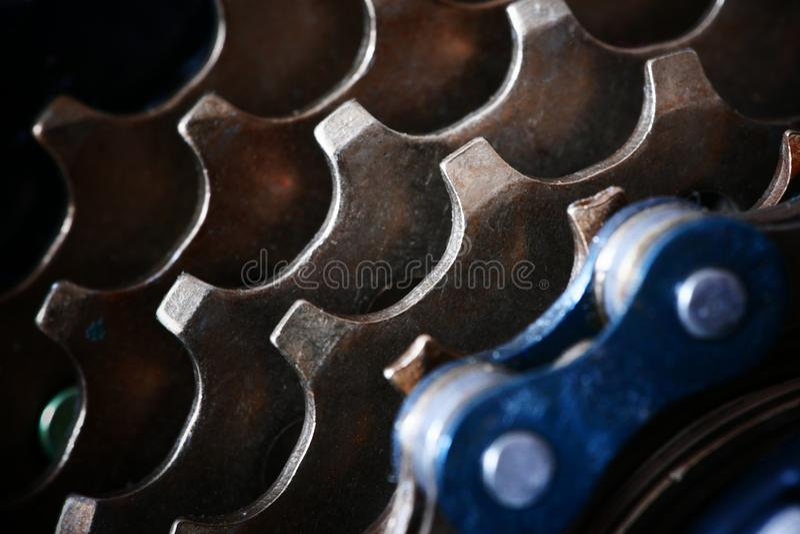 Close-up futurista da gaveta traseira de MTB fotos de stock