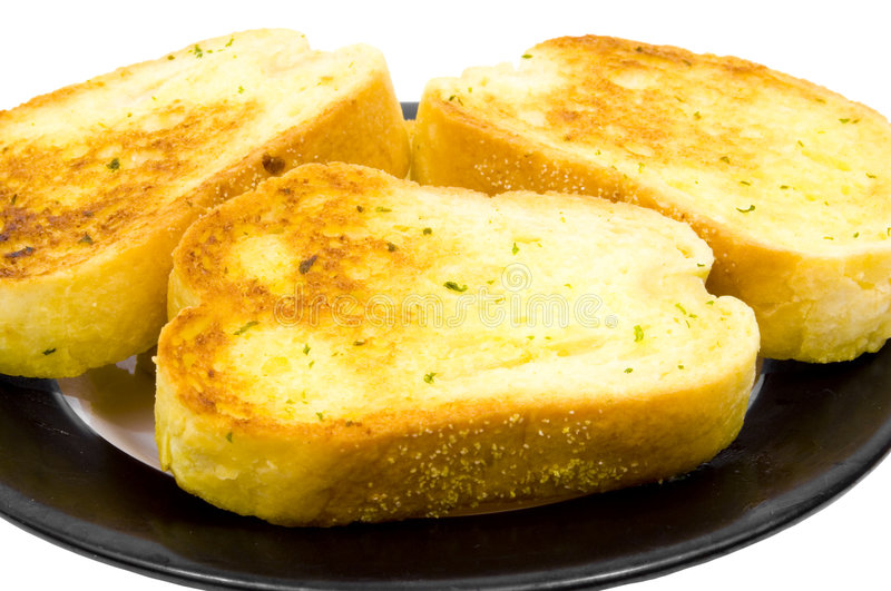 Close up of garlic bread royalty free stock images