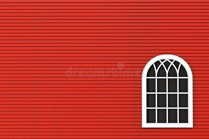 Close-up Gesloten plastic venster met rode muur royalty-vrije stock fotografie