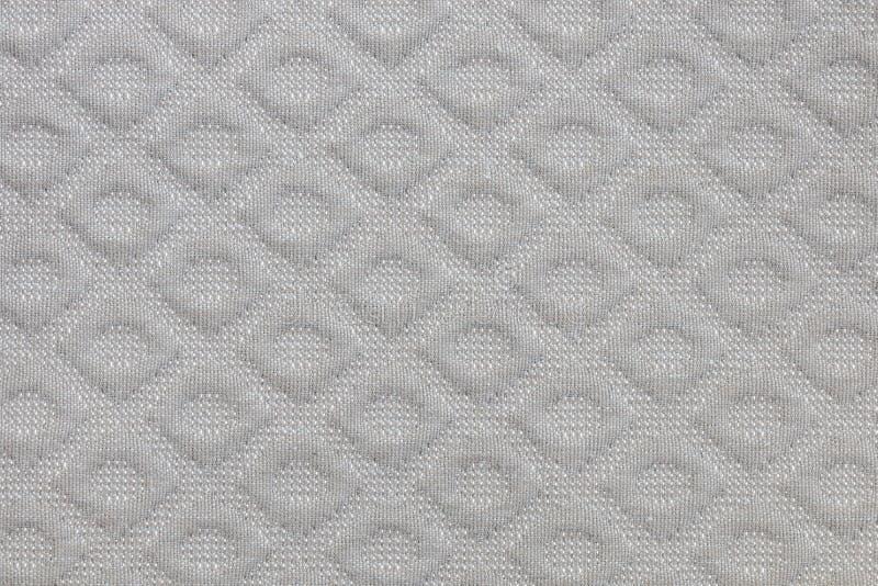 Close up of a gey fabric design pattern. Close up of a fabric design pattern stock photo