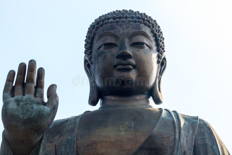 Giant Buddha statue/Po Lin Monastery at Ngong Ping,Hong Kong royalty free stock images