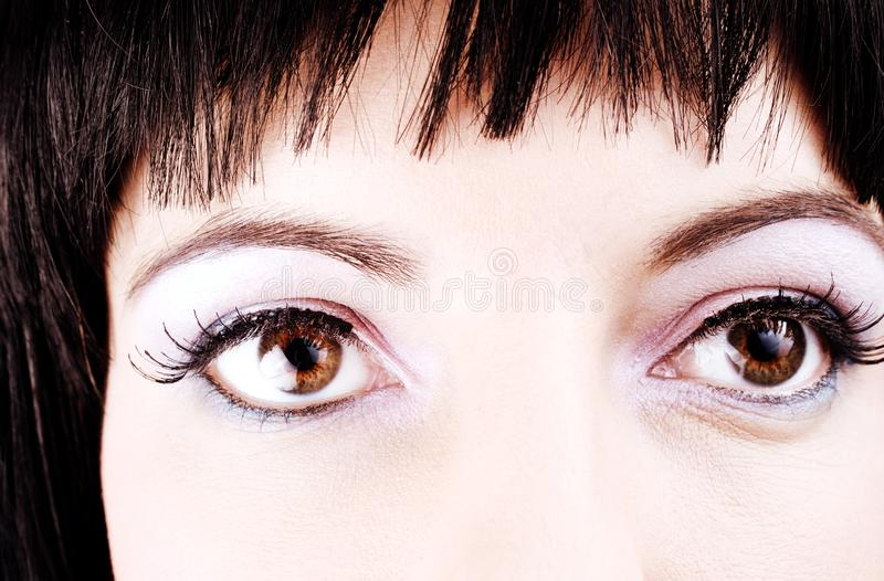 Close-up Of Girl's Eyes Stock Images