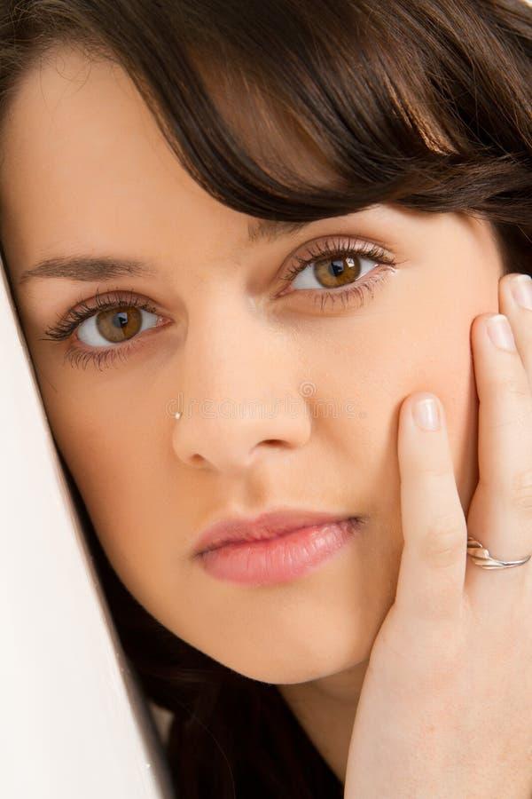 Close-up of girl's face royalty free stock photos