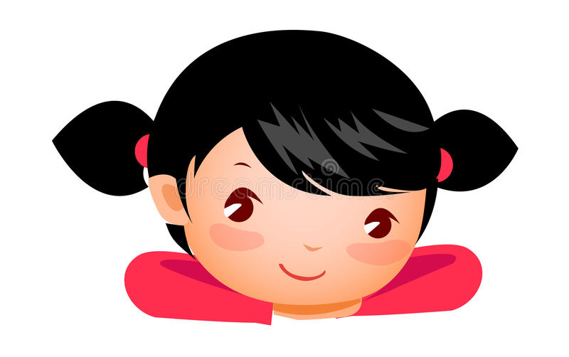 Close-up of girl royalty free illustration