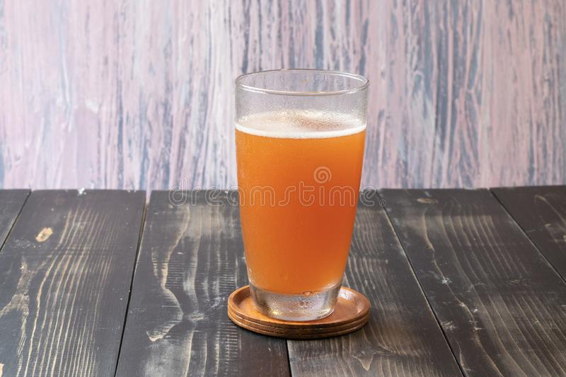 Glass of beer cider royalty free stock images