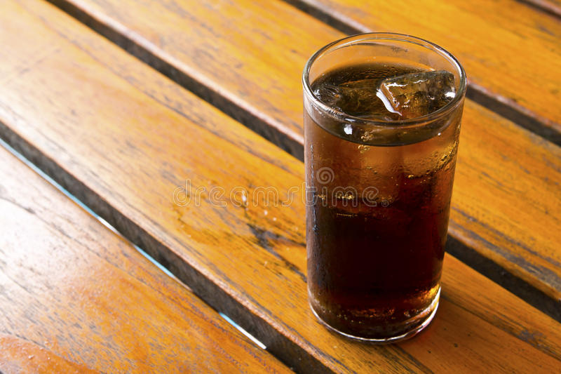 Close Up Glass of cola with ice. Isolated. On white background stock photos