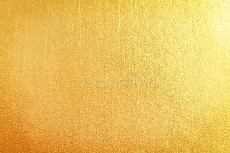 Gold concrete wall patterns texture abstract background. Close up Gold concrete wall patterns texture abstract background royalty free stock photography