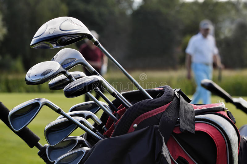 Close-up Of A Golf Bag Royalty Free Stock Images