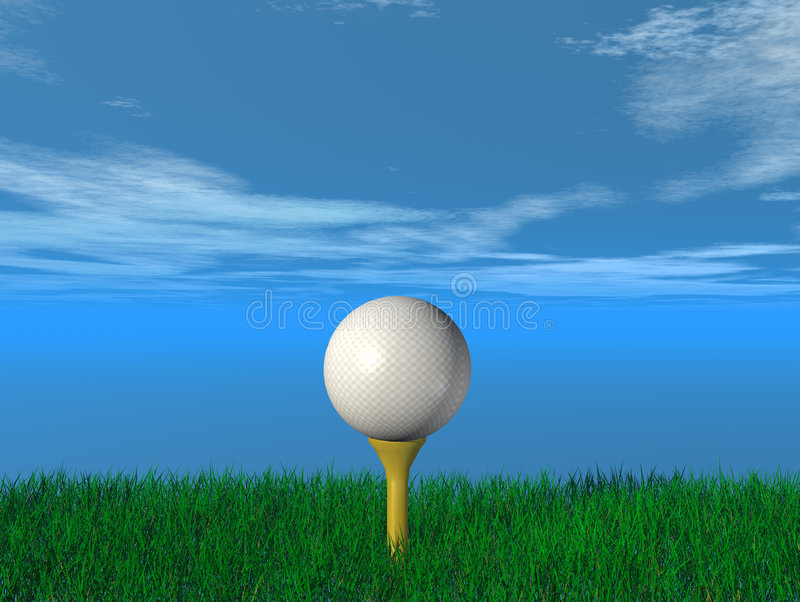 Close up of a golf ball royalty free illustration