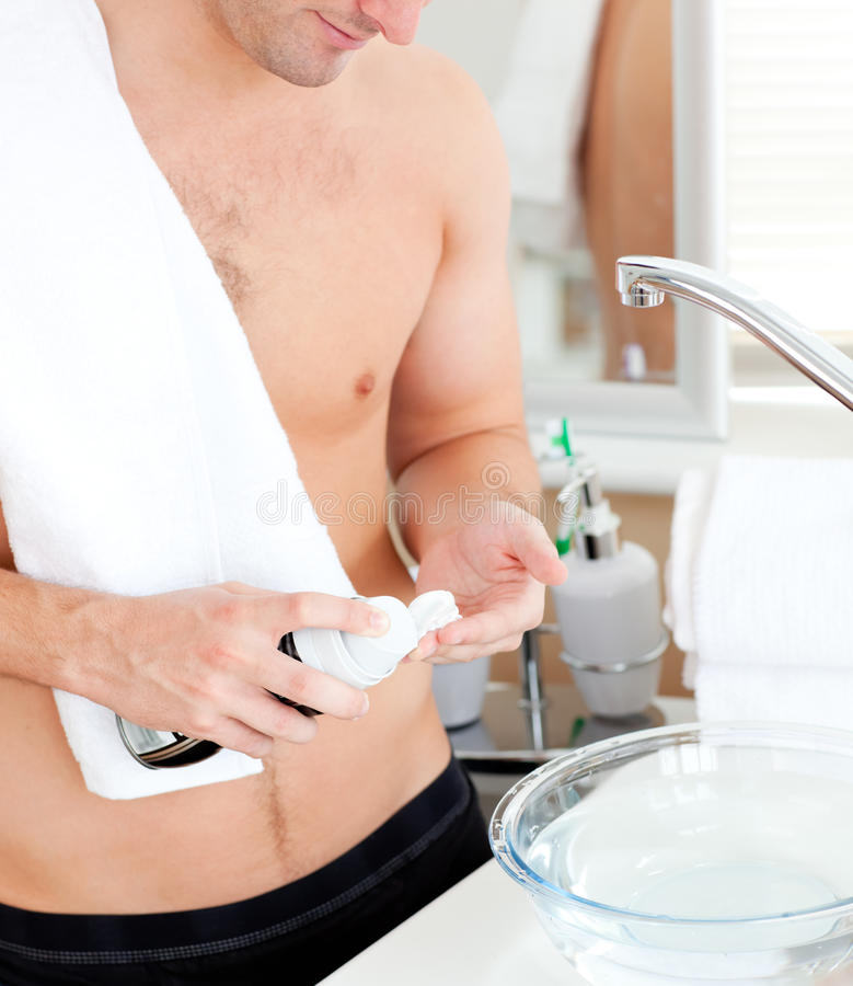 Download Close-up Of A Good-looking Man Preparing To Shave Stock Image - Image: 16263165