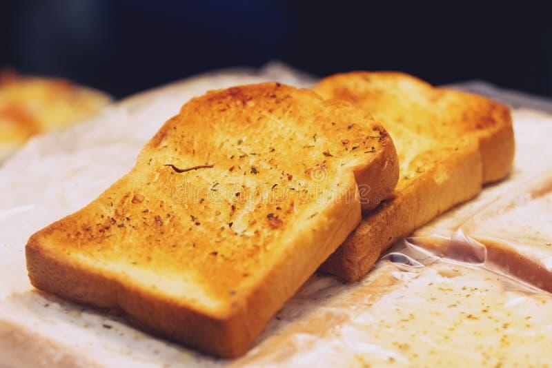 Close up of Good Morning Crusty Bread Toast Slice royalty free stock photos