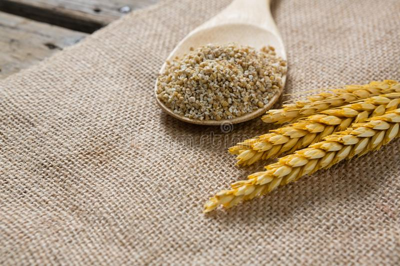Grain cracked cereal with barley royalty free stock photography