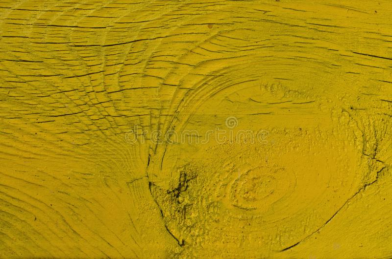 Yellow wood board with knot royalty free stock photos