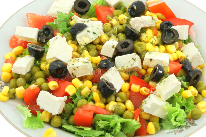Close-up Of Greek Salad Royalty Free Stock Image
