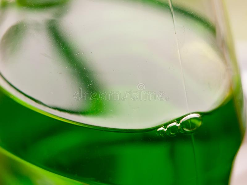 Close up of green bottle of fairy washing up liquid stock image