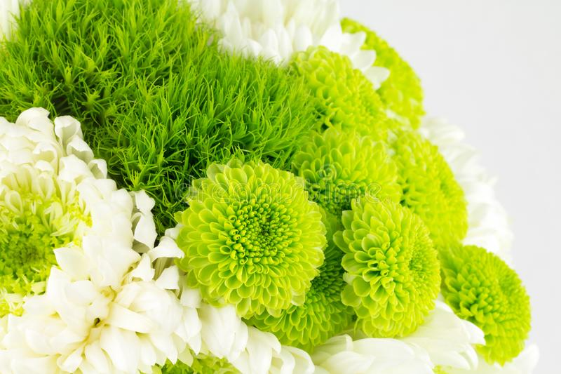 Green and white flower bouquet stock photos