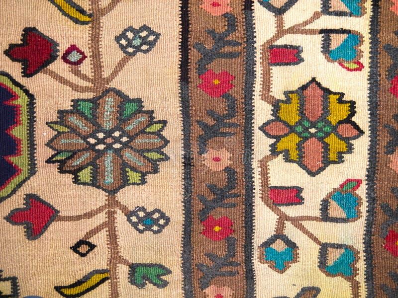 Close up grego tradicional do tapete imagens de stock