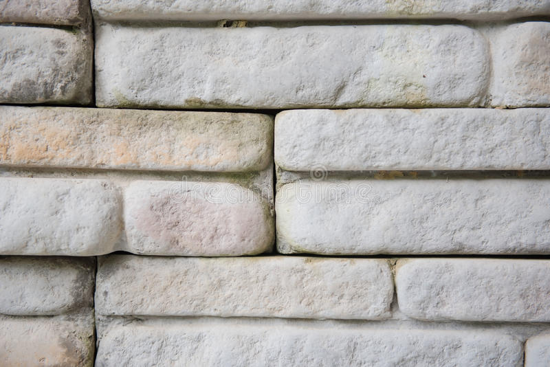 Close-up grijze bakstenen muur voor behang oppervlakte, textuur royalty-vrije stock foto