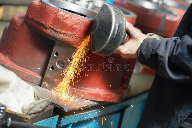 Download Close-up Grinding Process With Power Tool Stock Photo - Image: 24868432