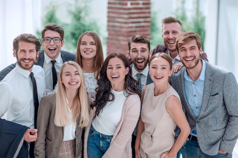 Close up. a group of professional corporate employees. royalty free stock photos