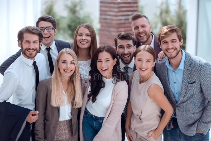 Close up. a group of professional corporate employees. stock photography