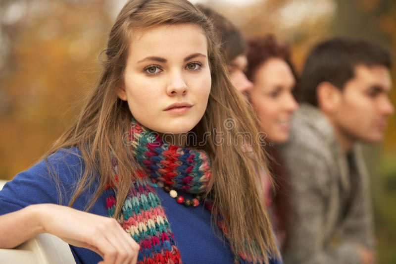 Close Up Of Group Of Teenage Friends royalty free stock photos