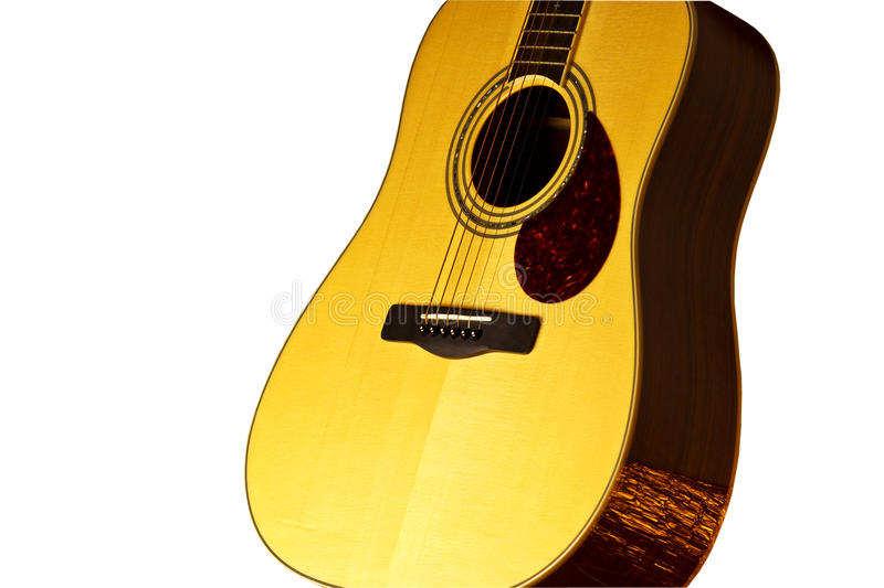 Guitar. Close-up of acoustic guitar. This is top solid body royalty free stock image