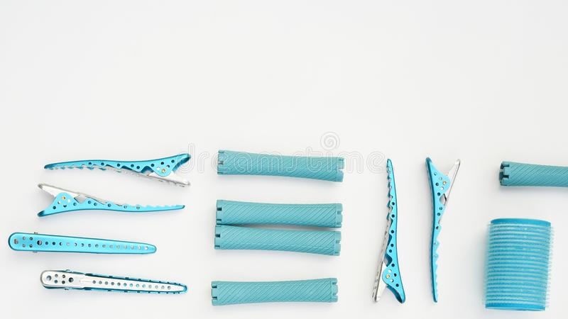 Close up of hair curlers royalty free stock image
