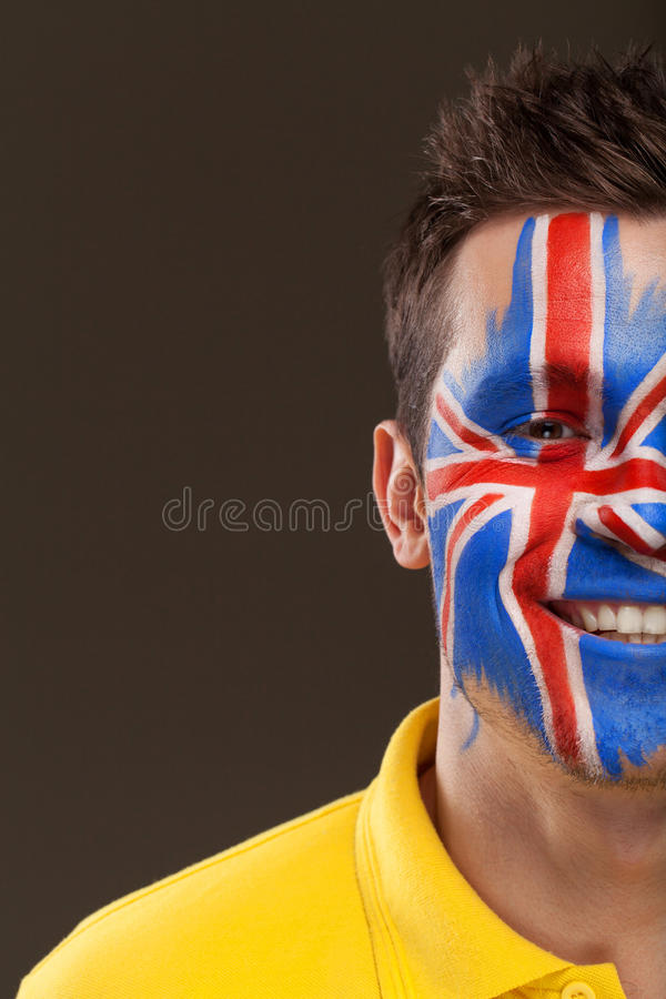 Download Close Up Of Half Face Painted. Stock Photo - Image: 34243680