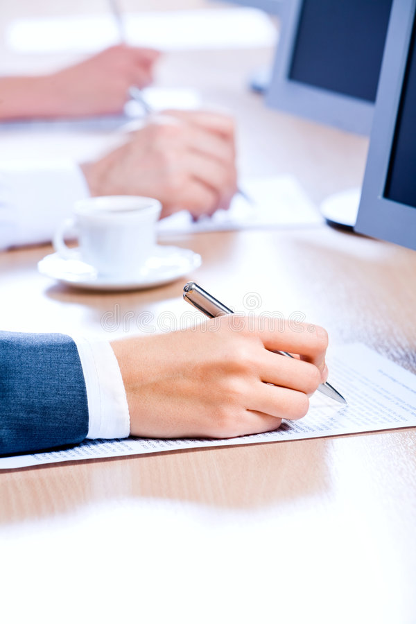 Download Close-up of  hand stock image. Image of paperwork, pointing - 4218823