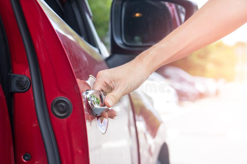 hand opening car door royalty free stock photos