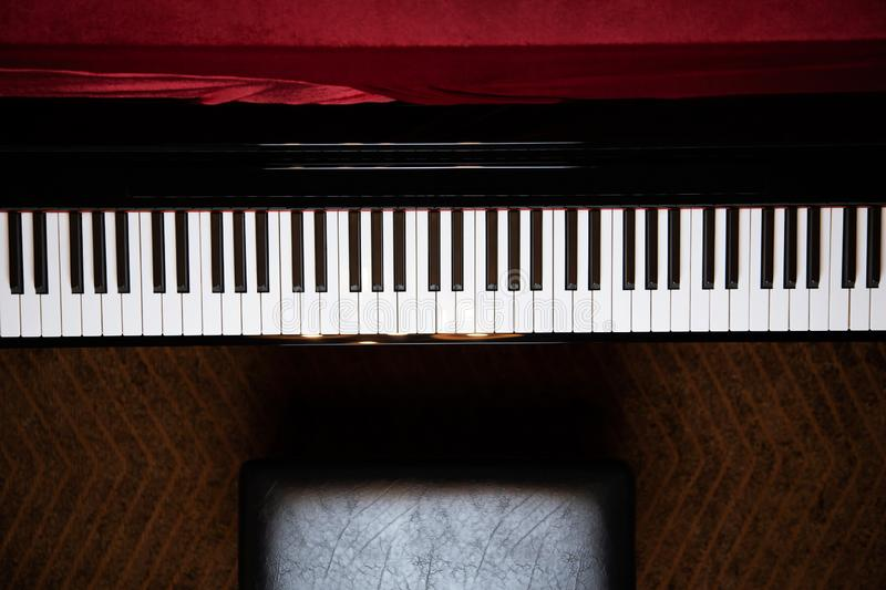 Close up of hand people man musician playing piano stock photography