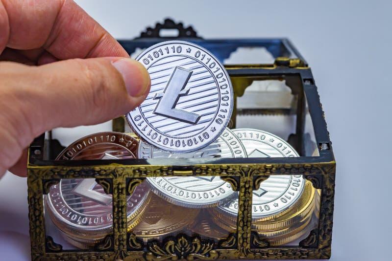Litecoin Treasure Chest stock photography