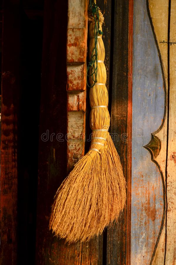 close up of a handmade traditional brooms  in china royalty free stock images