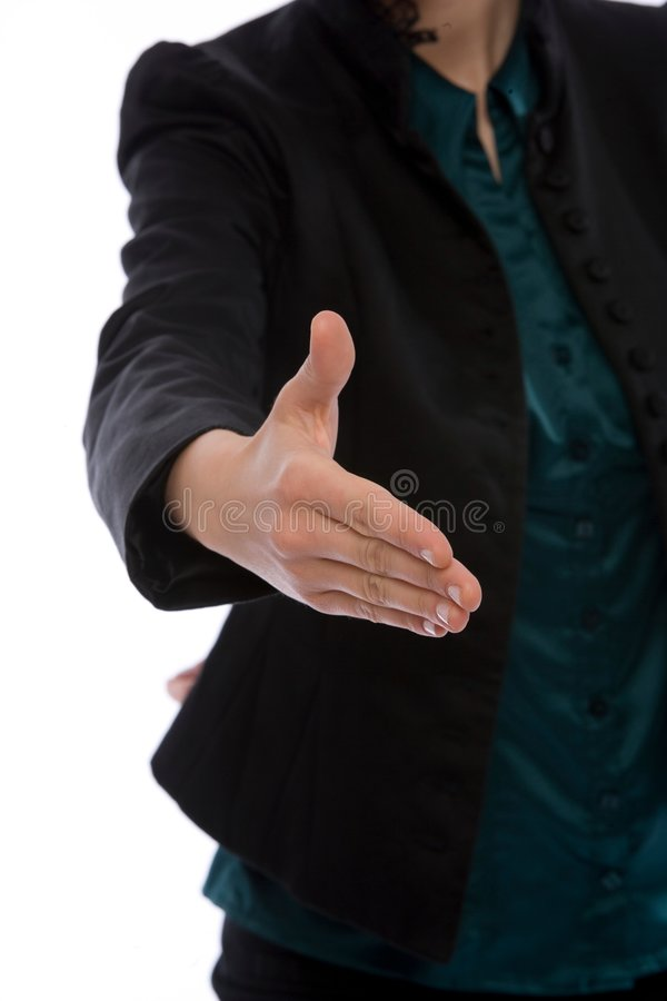 Close up handshake stock photo