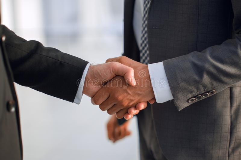 Close up. handshake business partners royalty free stock photos