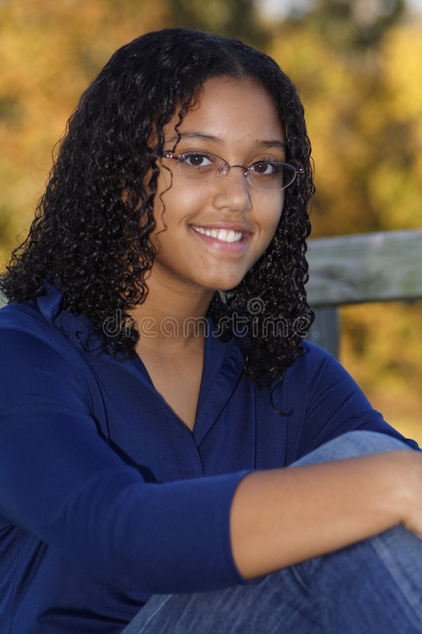 Close-up of a happy teenage girl royalty free stock photos